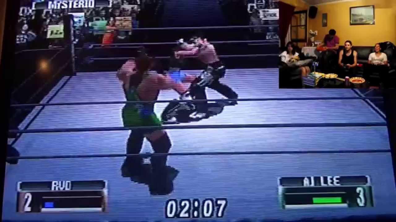 Rey Mysterio vs Rob Van Dam vs Aj Lee (Campeonato Peso ...