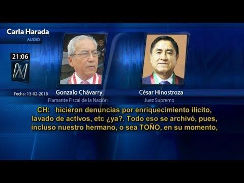 Audio entre flamante Fiscal de la Nación y juez supremo César Hinostroza descalifica juramentación