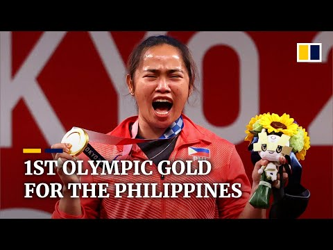 Weightlifter Hidilyn Diaz wins Philippines' first Olympic gold, ending its near 100-year wait