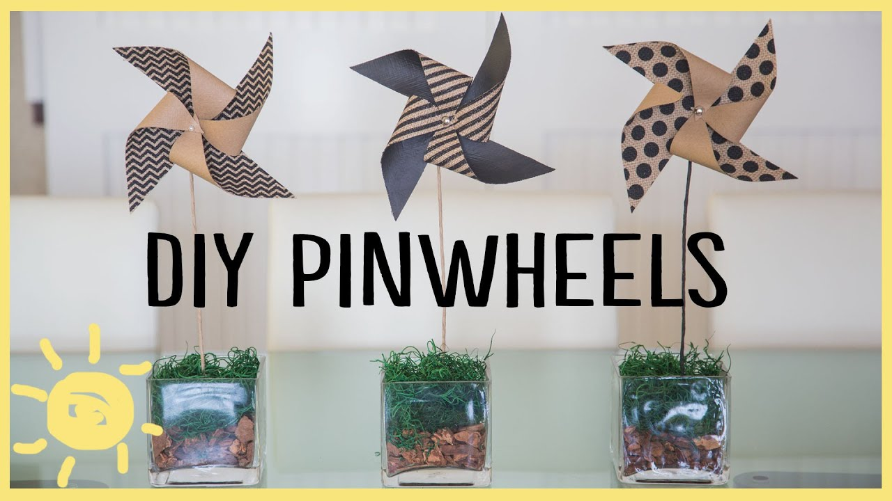 Diy pinwheel crafts cute easy youtube for Crafts for kids com