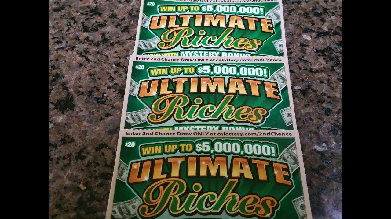Cashier Said Good Luck! CA Lottery Scratchers, 3 Cards - 1 Result