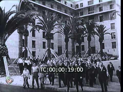 Inauguration de la cité Diar el Mahçoul à Alger (1955)