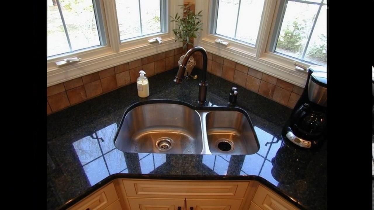 corner kitchen sink cabinet designs - youtube
