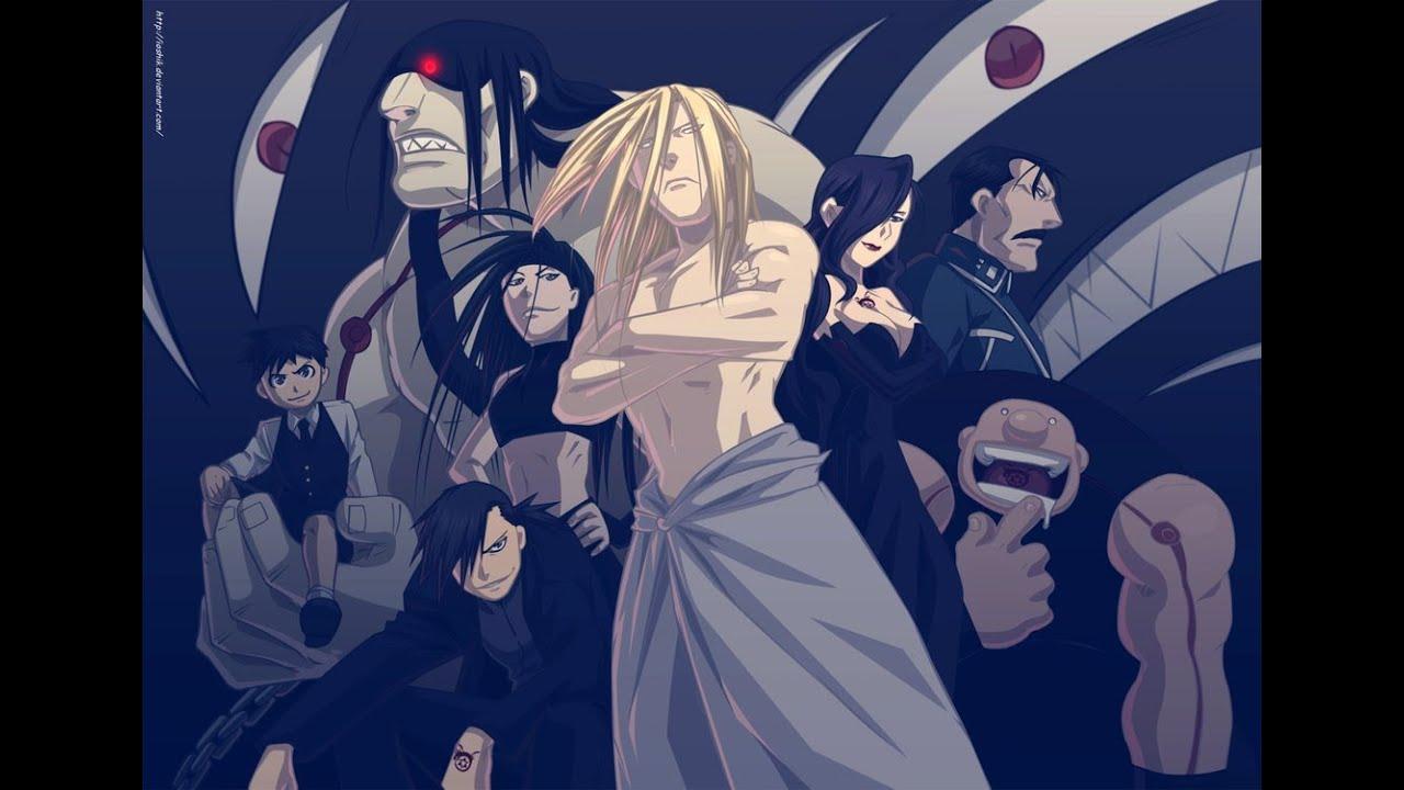 Fullmetal Alchemist Brotherhood: Father and Homunculi ...