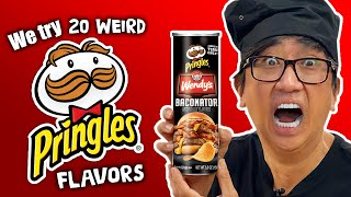 20 WEIRD Pringles Flavors Feat. Wendy's Baconator
