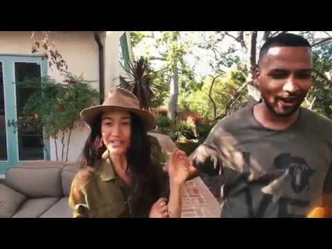 Backyard farming with Maggie Q