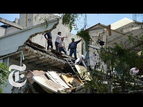 Strong Earthquake Strikes Near Mexico City