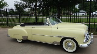 1951 Chevy Styleline Deluxe Convertible Classic Car