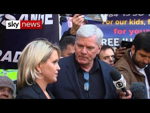 Julian Assange's legal team make a statement following his arrest