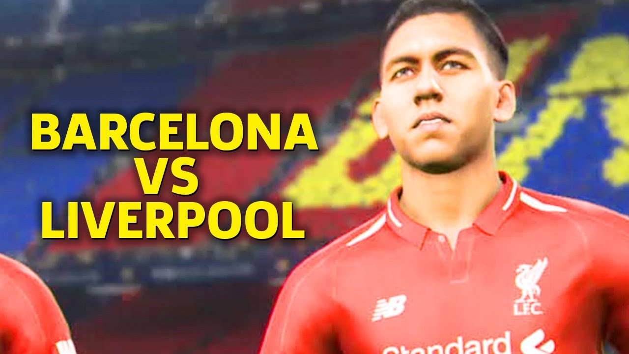 PES 2019 Gameplay on PS4 Pro - Liverpool Vs. Barcelona
