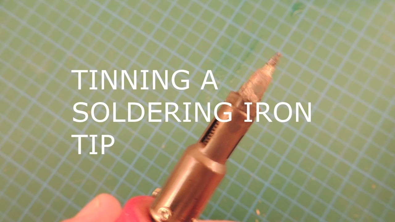 tinning a soldering iron tip youtube. Black Bedroom Furniture Sets. Home Design Ideas