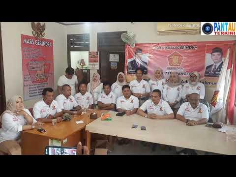 Jumpa Pers Partai Gerindra DPC Kabupaten Tangerang di HUT Ke - 12