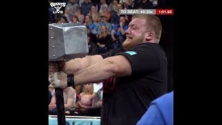 Incredible hammer hold - Eddie Hall vs local lad Paul Smith