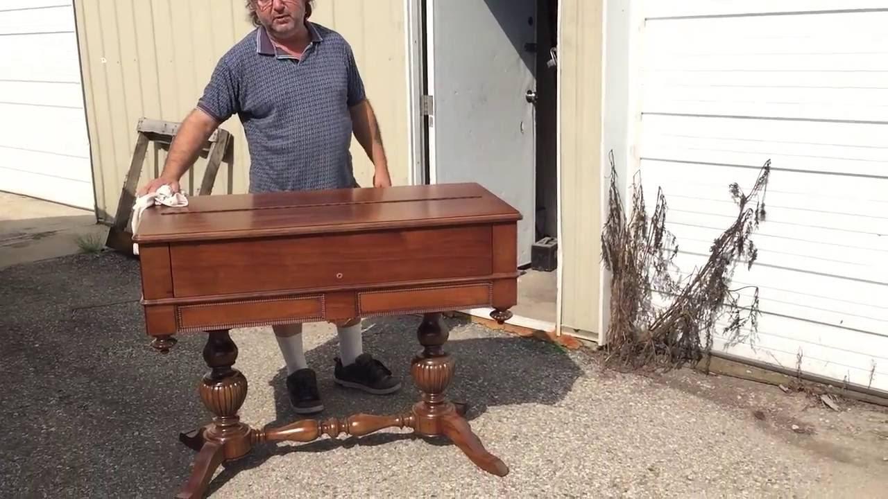 Refinishing A Antique Walnut Desk