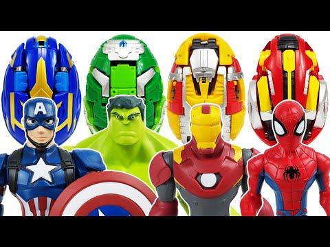 Avengers, Carbot Kung Go~! Iron Man, Thor! Captain America, Hulk, Thanos, Spider-Man! Incredibles