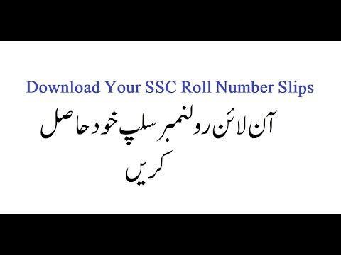 How to Download 9th & 10th Class Roll Number Slip by Malik Sajjad Razvi