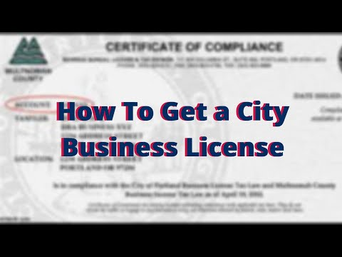 How To Get A City Business License