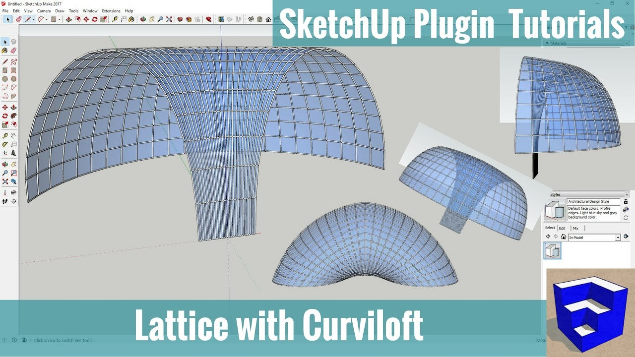 Creating a Glass Lattice w/Curviloft - SketchUp Extension