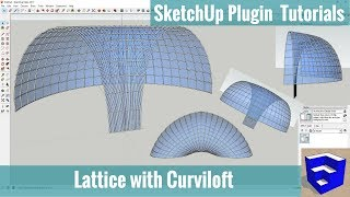 Video Creating a Glass Lattice w/Curviloft - SketchUp Extension Tutorials download MP3, 3GP, MP4, WEBM, AVI, FLV Desember 2017