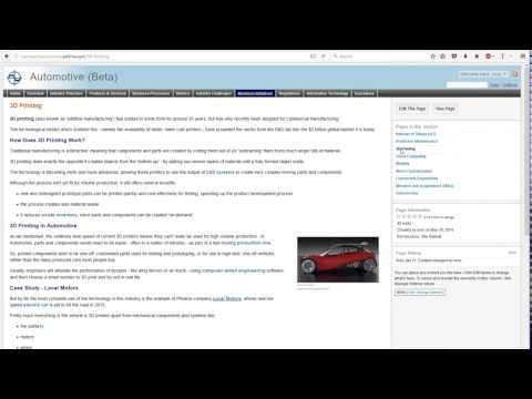 Industry Wiki Demo - Automotive