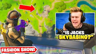 Skybasing in Famous YouTuber's Fortnite FASHION SHOWS for 24 hours...