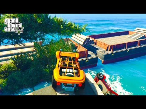GTA 5 PS4 - INSANE GTA 5 STUNTS & JUMPS! Epic GTA 5 Races & Ramps Online Open Lobby! (Funny GTA 5)