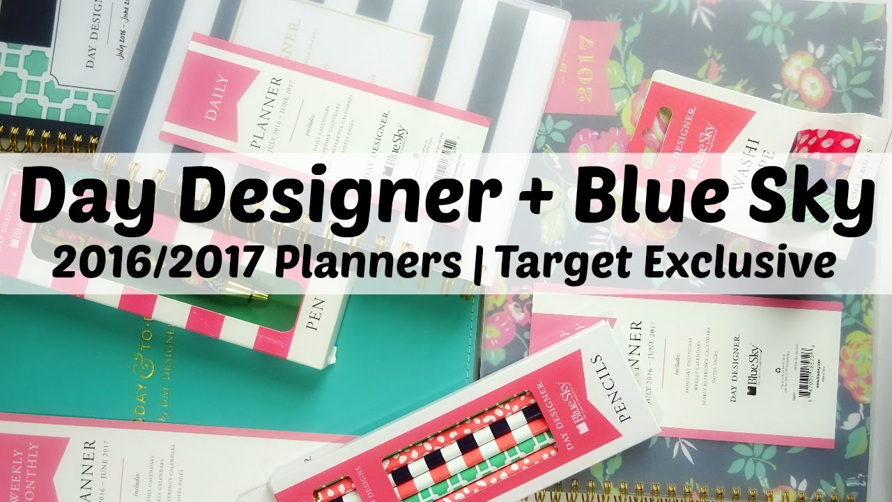 picture regarding Day Designer for Target called Working day Designer + Blue Sky 2016/2017 Planners Aim Exceptional