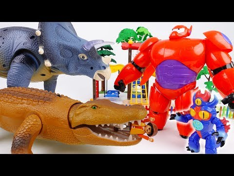 Thumbnail: Go Go Baymax~! Giant Monsters in Playmobil Town