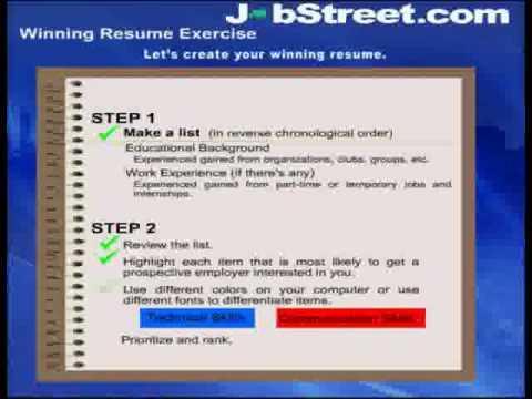 JobStreet\u0027s Career Guide Winning Resumes Part 2 - YouTube