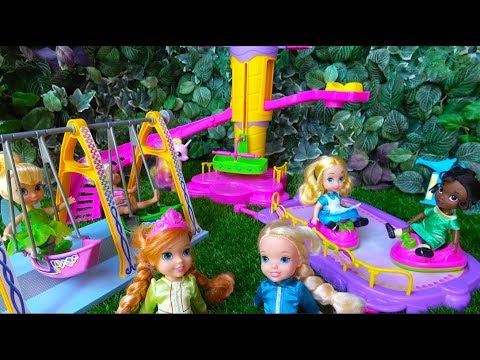 Elsa and Anna toddlers at the FUNFAIR with Chelsea, Disney princesses and My little Pony PART 2