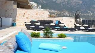 Antalya Kaş Satılık Lüks Deniz Manzaralı Villa