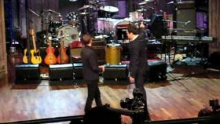 Ringo Starr and Jimmy Fallon at the press launch for Y Not