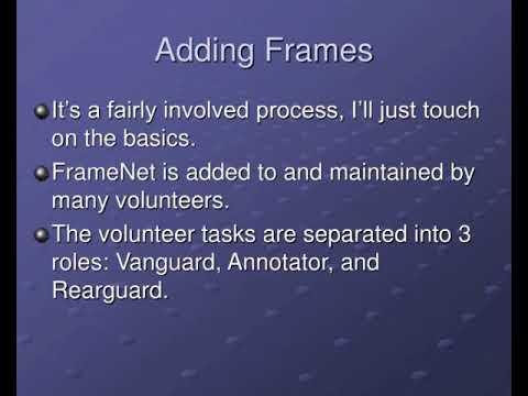 semantic frames framenet