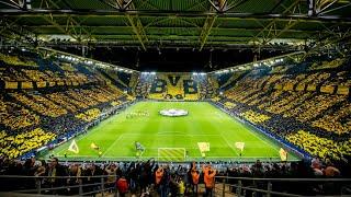 Borussia Dortmund - Paris Saint-Germain (2:1) - MOSAICO INCRÍVEL DA TORCIDA DO BVB!