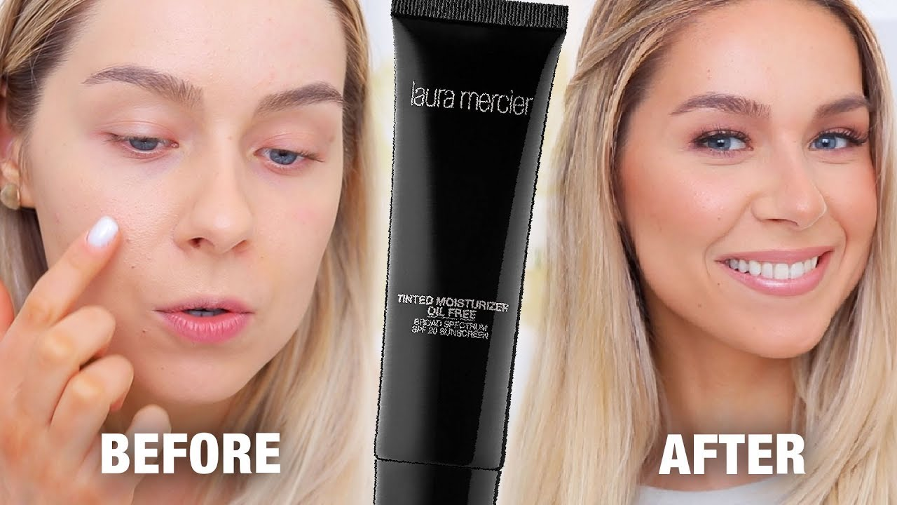foto de LAURA MERCIER TINTED MOISTURIZER (OIL-FREE) SPF20 REVIEW - YouTube