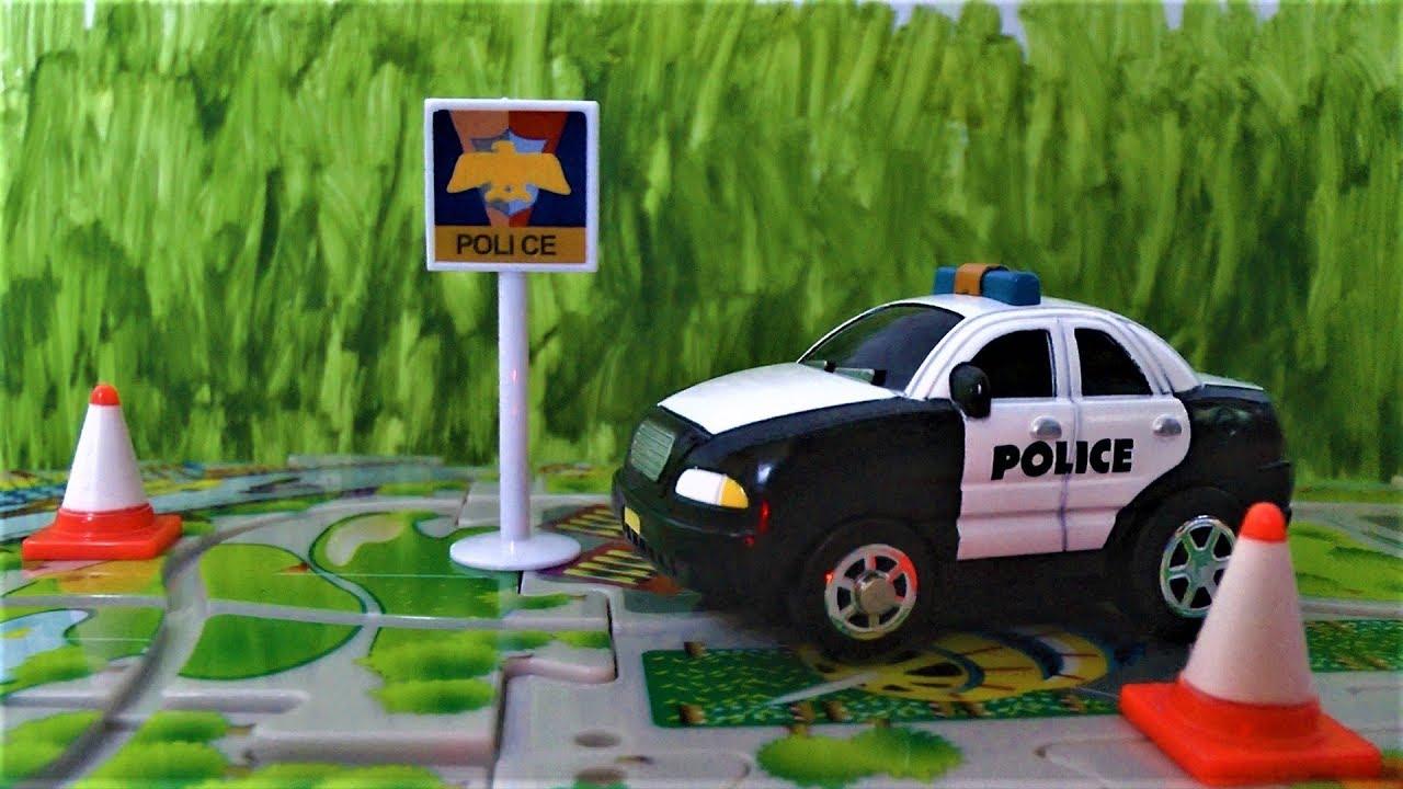 Машинки для детей Полицейская машинка и трек Игрушки для мальчиков