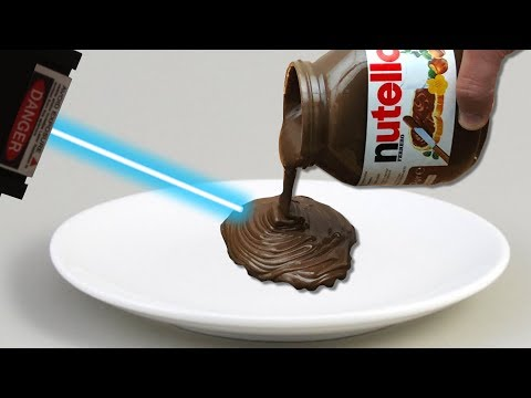 Experiment Worlds Most Powerful Laser VS Nutella Satisfying | The Crusher