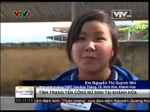 VTV1 - Tình trạng tấn công nữ sinh tại Ninh Hòa - ninhhoa.org