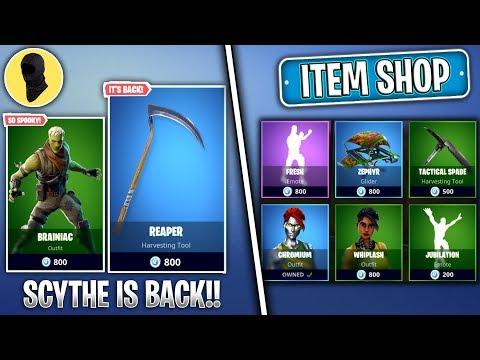 SCYTHE IS BACK! *BEST REACTION* (Fortnite NEW SKINS Item Shop) [October 25th] Fortnite Battle Royale