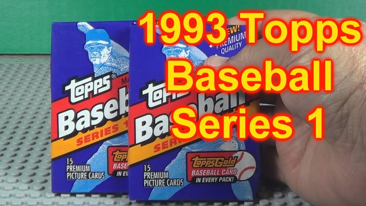 1993 Topps Baseball Cards Opening 2 Packs Rookie Year Of Jeter