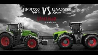 Trailer Fendt 1050 vs Claas Xerion 5000