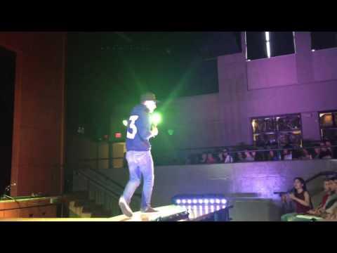 Elijah rapping at Mx Lockview