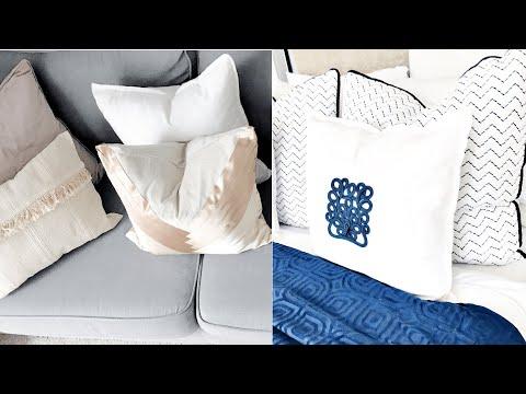 Home Decor 2019 Ikea Cushion Hack| Super Simple, Easy DIYs| Fool Proof | Elevate Your Ikea Cushions