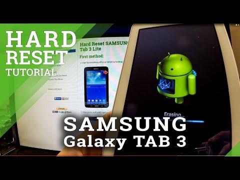 Hard Reset SAMSUNG Galaxy Tab 3 - Factory Reset Tutorial