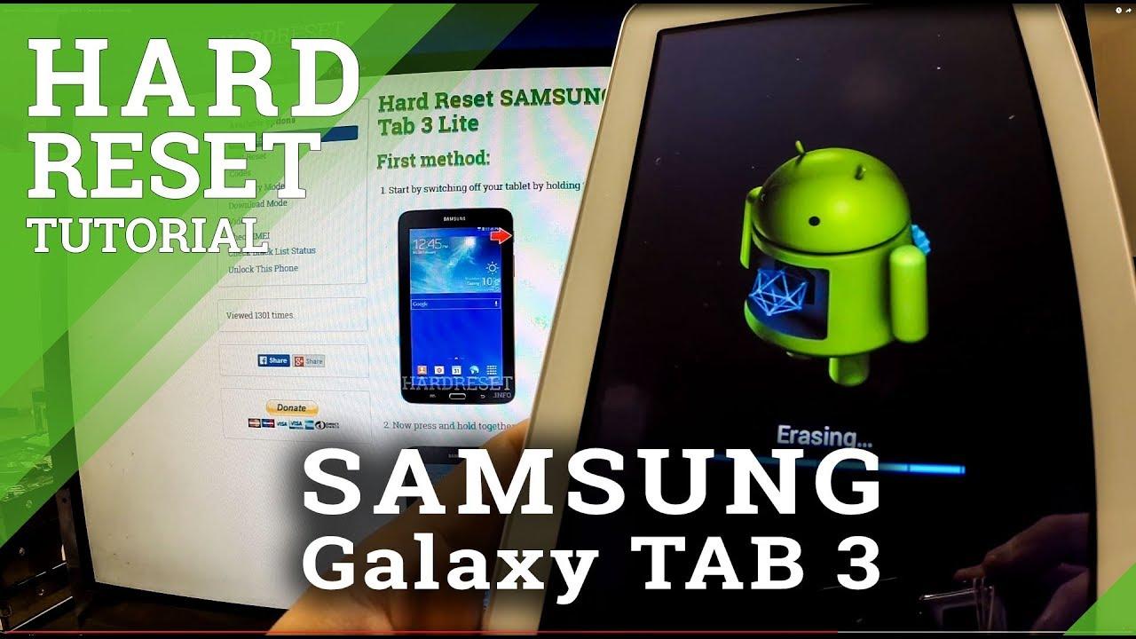 Hard Reset SAMSUNG T110 Galaxy Tab 3 Lite 7 0 - HardReset info