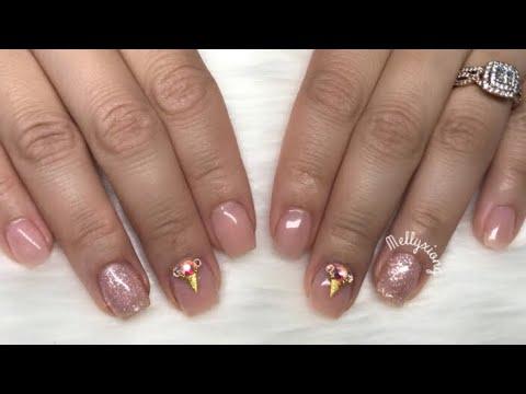 Natural Looking Acrylic Nails Design Youtube
