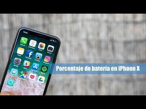 ¿Cómo Mostrar El Porcentaje De Batería En El IPhone X?