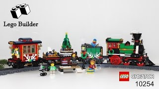 Lego Creator 10254 Winter Holiday Train Lego Speed Build