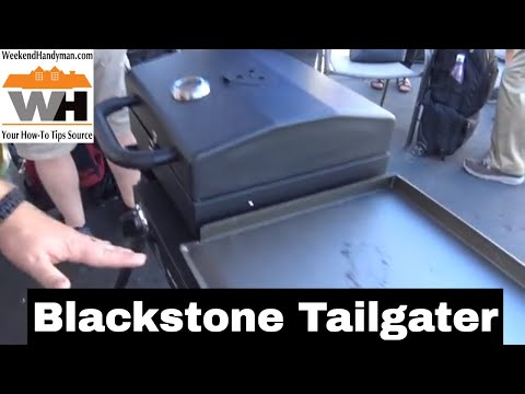 Blackstone Tailgater Griddle And Grill Combo Unit For Camping Outdoors | Weekend Handyman