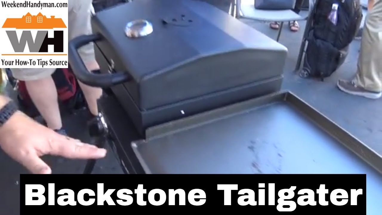 Blackstone Tailgater Griddle And Grill Combo Unit For